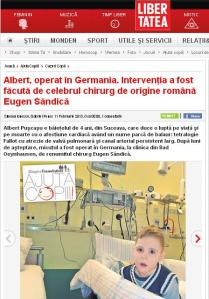 Albert, operat in Germania.